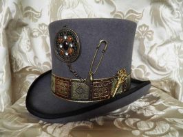 Steampunk top hat PCSH16 by JanuaryGuest