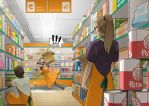 Working at the Suppa Market by AnimaProject