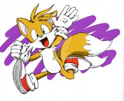 Tails Running-recolored- by chukadrawer
