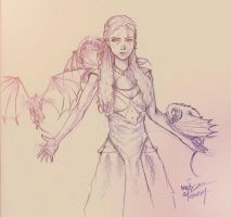 Daenerys - Dragons' Queen by Massimo-Weigert