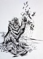 Tiger Teasing Inked By DW Miller by ConceptsByMiller