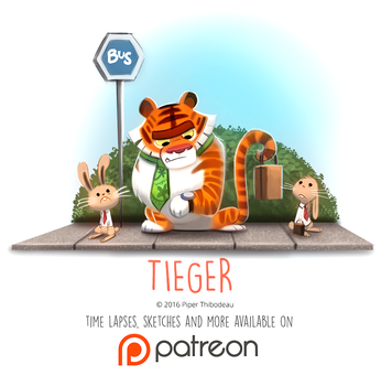 Daily Paint 1455. Tieger by Cryptid-Creations