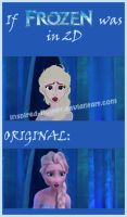 If FROZEN was in 2D by inspired-flower by inspired-flower