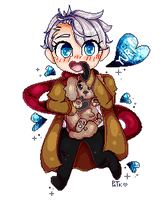 Yuri!!! Viktor Chibi (Animated) by PurpleNightTheKitty