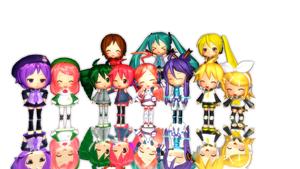 MMD A Lot of Nendoroids!! by Tuany-Neko-Daisuki