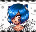 Blue hair by Nay-Hime