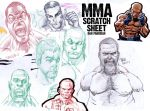 MMA Sketches by urban-barbarian