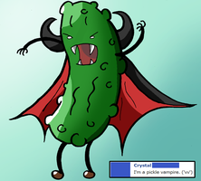 Pickle Vampire by Maplemay