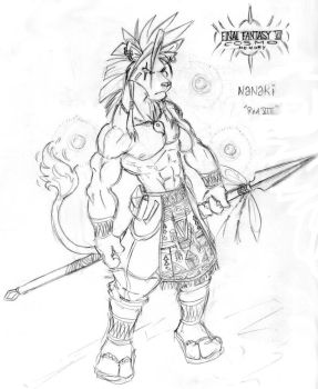 Anthro Red XIII by KensukeTheCat