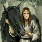 Khyra and Blackadell Portrait by littlegoblet