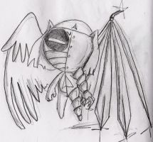 Trashy winged angel by Windymon