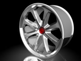8 spokes wheel by ragingpixels