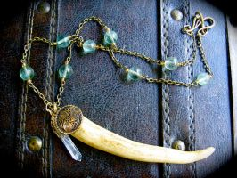 The Celtic Forest Antler tip necklace by EireCrescent