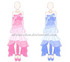 [SOLD] Princess Gown Outfit Adoptables by Aloise-chan