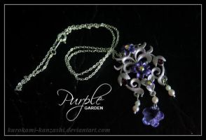 Purple Garden Necklace by Kurokami-Kanzashi