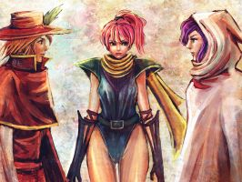 Butz and Faris and Lenna by Gold-copper