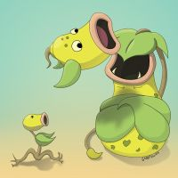 Day 25: Bellsprout Family by Otterpawps