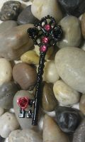Black Rose Fantasy Key by ArtByStarlaMoore