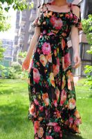 Black Floral Maxi Dress 6 by yystudio