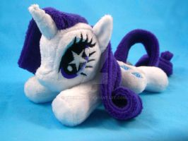 Starry-Eyed Rarity Mini Pony Plush by TheHarley