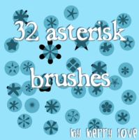 Icon sized - Askterisk brushes by PromiseBerry