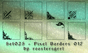 Set025 - Pixel Borders 017 by wolfgrrlone