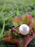 Dark Copper Pearl Ring by Strange-Argument