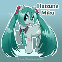 Vocaloid Pony: Hatsune Miku by canarycharm