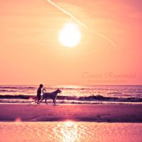 A boy and his dog by TammyPhotography