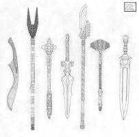 Weapon Set 7 by naraphim