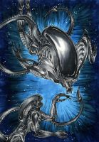 H R Gigers Aliens by Lennylein