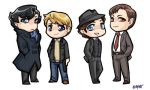 White Collar + Sherlock Charms by dauntingfire