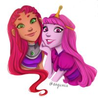 Star and Princess Bubblegum by caligrl7072