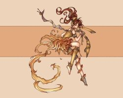 flame dancer as wallpaper by fnett