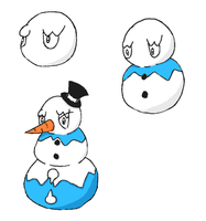 Fakemon- Snowman Line by Casey333