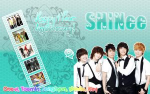 Happy 4yr Anniversary SHINee by TaeminInWonderlandxD
