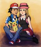 Art gift: Ash and Serena by Grace-Zed