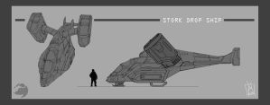 Stork Dropship by geeshin