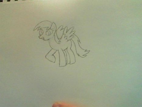Derpy Hooves sketch by Dragoneye181