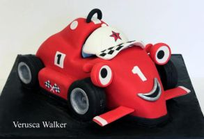 Red Racing Car Cake by Verusca