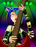 Guitar kitty by IronFist-Productions