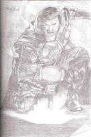 Pencil Drawing: Thor by zakhele