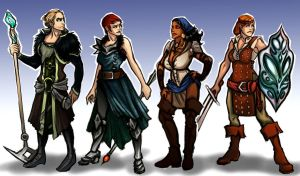 Dragon Age II - My team by Enife