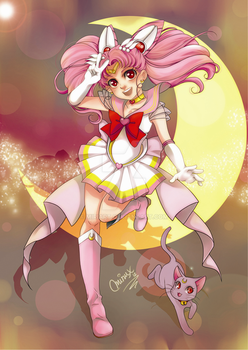 Super Sailor Chibi Moon by MiriArt