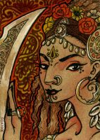 Sword Dancer - ACEO by sphinxmuse