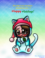 Holiday Card Project-Happy Holidays From Cat Mari~ by Misskatt66
