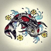 fish tattoo by carldraw