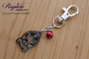 Cullen Family Crest Key Chain by RaptureJewelry