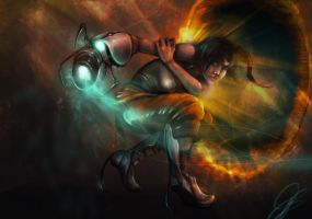 Chell - Portal 2 by MousePencil