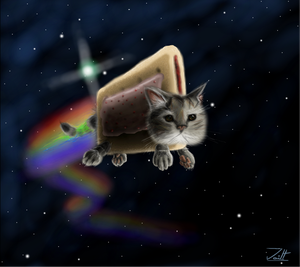 Nyan cat by who-fan96